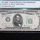 1950-C $5 Federal Reserve Note. Star Note Collectible. PMG Certified. CU-64. EPQ.