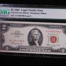 $2 1963 Legal Tender Note.  PMG Certified.  CU-66, E.P.Q.  Nice Note. #3797