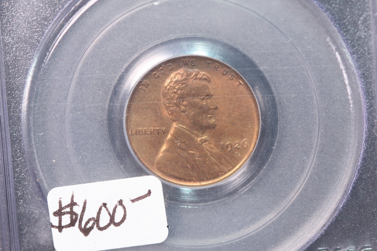 1926-D Lincoln Wheat Cents,  PCGS Mint State 64. Red/Brown.  CAC Sticker and QA Sticker.