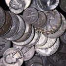 90% Silver Sale.  50 Coin Roll. = $5 Face Value.  All Mercury Dimes.