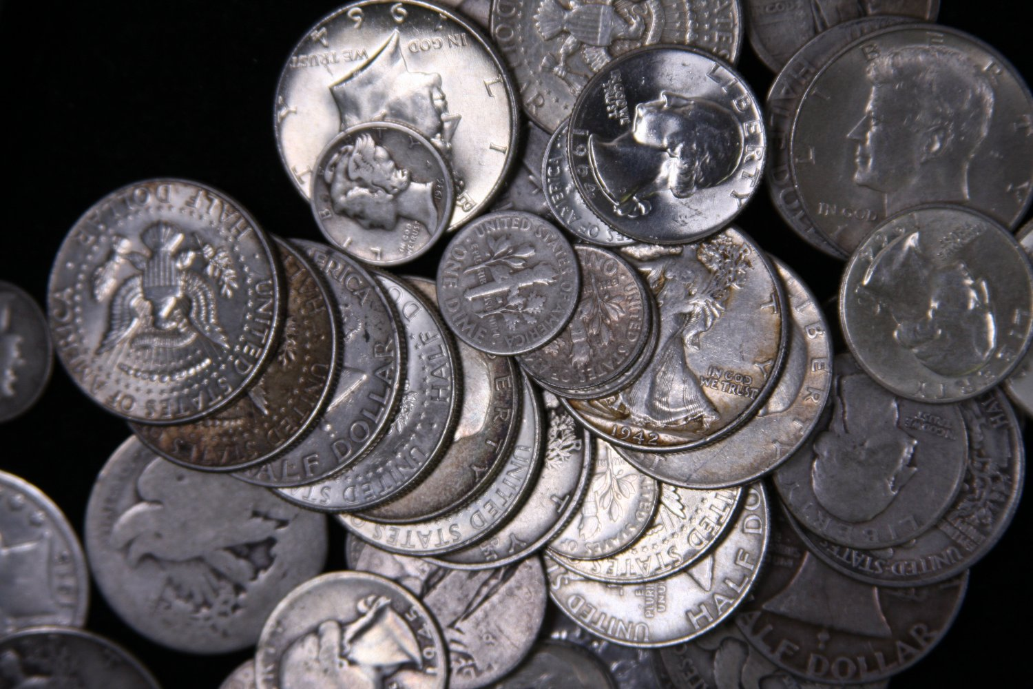 $1 Face Value 90% Silver Sale.  2 Half Dollar's.  1964 and Prior U.S. Minted Coins.