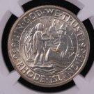1936 Rhode Island, Tercentenary Commemorative Silver Half Dollar.  NGC Certified, MS 64.