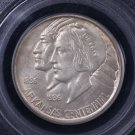 1936-S Arkansas Silver Half Dollar, Commemorative Coin.  Green PCGS Holder. MS64.