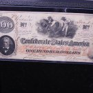 1862 Southern States Currency. $100.  One Hundred Dollar's. Civil War Currency.