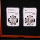 """2001 Buffalo Commemorative, 2 Coin Set. """"P"""" and """"D"""". Proof and Mint State Issue."""