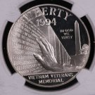 1994 Vietnam Veterans, 3 Graded Coin Proof Coin Set, Complete With Display Case.