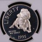 1995 Civil War Battle Field, 4 Coin Commemorative Coin Set, Graded, Display Box.
