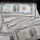 $2 Red Seal's.  U.S. Legal Currency.  All Circulated Condition. Various Dates,