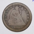 1861 Seated Liberty Quarter.  Circulated Condition.  Civil War Date.  #7545.