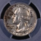 1955-D Washington Quarter.  Toned. Removed From Mint Set. PCGS MS-65. #6351
