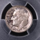 1955 Roosevelt Silver Dime.  Authentic PCGS Holder.  MS-66.  Toned Coin. #6353