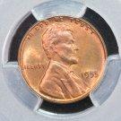 1955 Lincoln Wheat Cents.  Choice PCGS MS-65. R.B.  #6361
