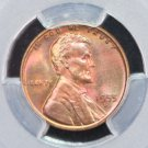 1955-D Lincoln Wheat Penny.  Nice High Grade.  PCGS MS-66 R.B.  #6362
