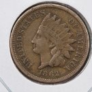 1862 Indian Head Penny.  Fine Circulated Coin.  Large Store Inventory.  #8263