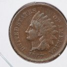 1867 Indian Head Penny.  VF-30 Circulated Coin.  Store Sale #8273