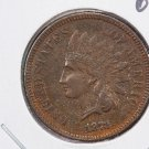 1873  Indian Head Penny. OPEN-3.  About UN-Circulated Coin.  Store #8283