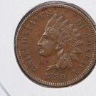 1880 Indian Head Penny. Nice About UN-Circulated Coin.  Store Sale #8295.
