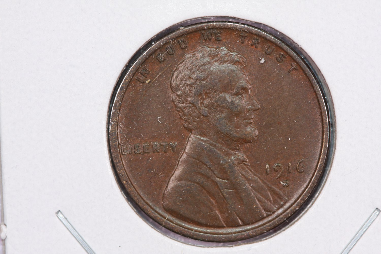 1916-D Lincoln Wheat Penny.  About UN-Circulated Coin.  Store Sale #8371