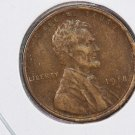 1918-D Lincoln Wheat Cents.  Extra Fine Circulated Coin.  Store Sale #8377
