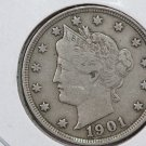 1901 Liberty Nickel.  Nice LIBERTY.  Very Fine Circulated Coin. Store Sale #8429