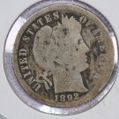 1892-O Barber Dime,  About Good Circulated Coin.  Store Sale #8464.