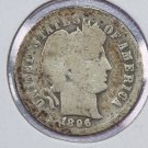 1896-O Barber Dime. Good Circulated Coin.  Store Sale # 8487