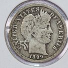 1899-O Barber Dime.  Very Good Circulated Coin.  Store Sale #8505.