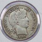 1900 Barber Dime.  Fine Plus Circulated Coin.  Store Sale #8509