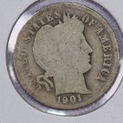 1901-S Barber Dime.  About Good Circulated Coin.  Store Sale # 8519