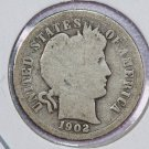 1902-O Barber Dime.  About Good Circulated Coin.  Store Sale #8523