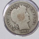 1902-S Barber Dime.  About Good Circulated Coin.  Store Sale #8525