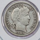 1903-O Barber Dime. Very Fine Circulated Coin.  Store Sale #8529.