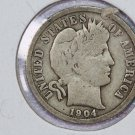 1904 Barber Dime. Very Good Circulated Coin.  Store Sale #8533