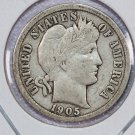 1905 Barber Dime. Very Good Circulated Coin.  Store Sale #8537