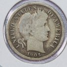 1905-O Barber Dime, Very Good Circulated Coin.  Store Sale #8539