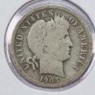 1905-S Barber Dime. Good Circulated Coin.  Store Sale #8541
