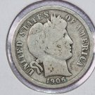 1906-O Barber Dime.  Good Circulated Coin.  Store Sale #8545
