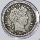 1906-D Barber Dime.  Very Fine Circulated Coin.  Store Sale #8547