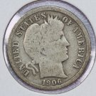 1906-S Barber Dime,  Good Circulated Coin.  Store Sale #8549