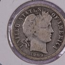 1909-O Barber Dime.  Very Good Circulated Coin.  Store Sale #8571