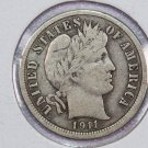 1911 Barber Dime.  Fine Circulated Coin.  Store Sale # 8581