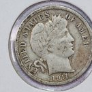 1911-D Barber Dime.  Very Good Circulated Coin.  Store Sale #8583.