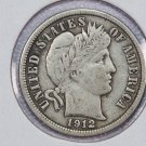 1912 Barber Dime. Very Fine Circulated Dime.  Store Sale #8587.