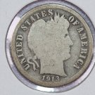 1913-S Barber Dime. About Good Circulated Coin.  Store Sale #8593
