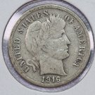 1916-S Barber Dime. Very Good Circulated Coin.  Store Sale # 8607