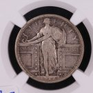 1917-S Standing Liberty Quarter.  Type-1.  NGC Certified.  F-12. Nice Early Date. Affordable.