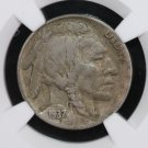 1937-D Buffalo Nickel. Rare, 3 Leg Variety. Certified NGC, VF-25.  Nice Collectible Coin.