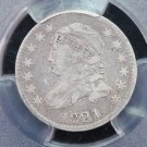 1921 Cap Bust Dime.  Large Date.  RARE Coin.  PCGS Certified. VF-25.  Store Sale.