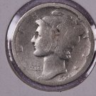 1925-D Mercury Silver Dime.  Fair to About Good Circulated Coin. Store Sale # 8632