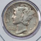 1927 Mercury Dime.  Very Good Circulated Coin.  Store Sale # 8642